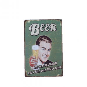 Mancave bord - Beer is my new religion