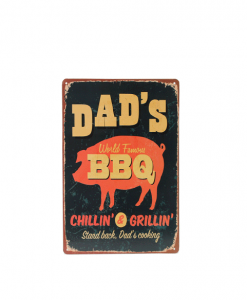 Mancave bord - Dad's World Famous BBQ