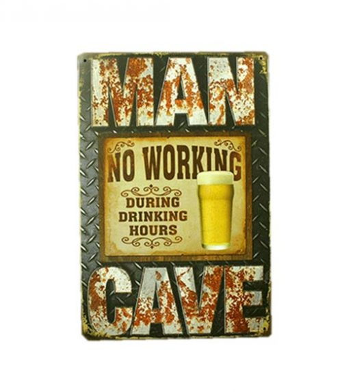 Mancave bord - No Working During Drinking Hours