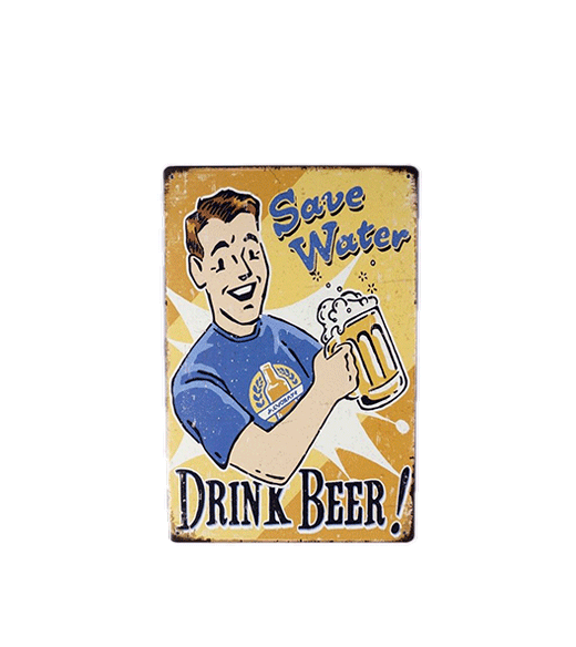Mancave bord - Save Water Drink Beer