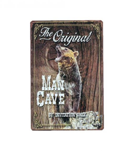 The Original Man Cave - metalen bord