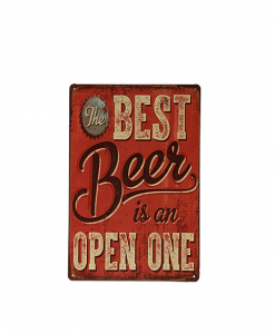Mancave bord - The best beer is an open one