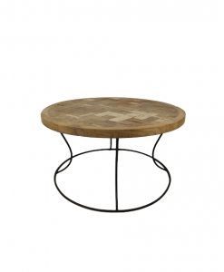 HSM Collection salontafel rond mozaiek- blank teak 80cm