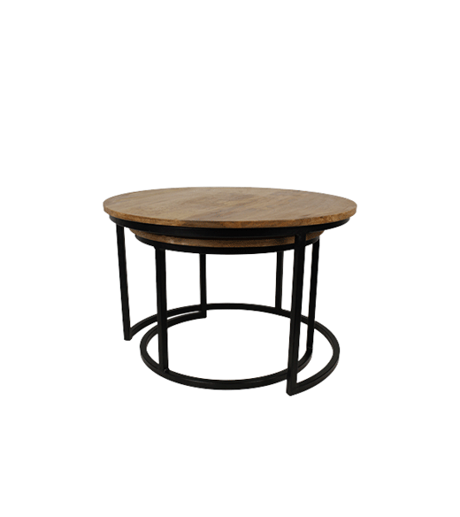 Ronde Salontafel Set.Ronde Salontafel Set Industrieel Moss Hsm Collection