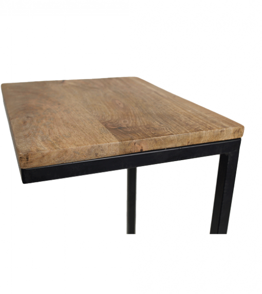 Sidetable Read - naturel zwart - mango wood ijzer HSM Collection