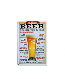 Mancave bord - How to order a beer