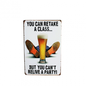 Mancave bord - you can retake a glass