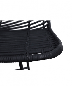 Fish Bone Rattan chair (matt black)