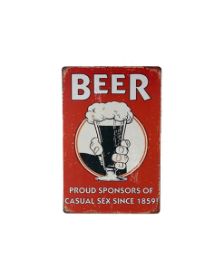 Mancave bord - Beer, proud sponsors of casual sex since 1859