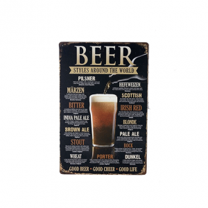 Mancave bord - Beer styles around the world