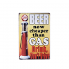 Mancave bord - beer now cheaper than gas