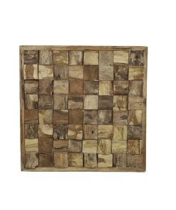 HSM Collection - wanddecoratie hout - vierkant - naturel