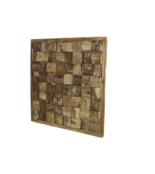 Extreem HSM Collection - wanddecoratie hout - vierkant - naturel | #QJ77