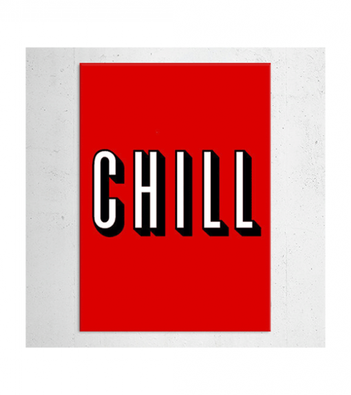 Nettflix - Chill wandplaat