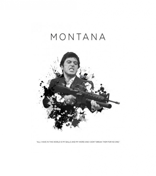 Scarface - Tony Montana 2.0 wandplaat