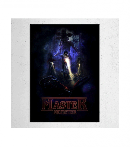 Stranger things - Master Monster wandplaat