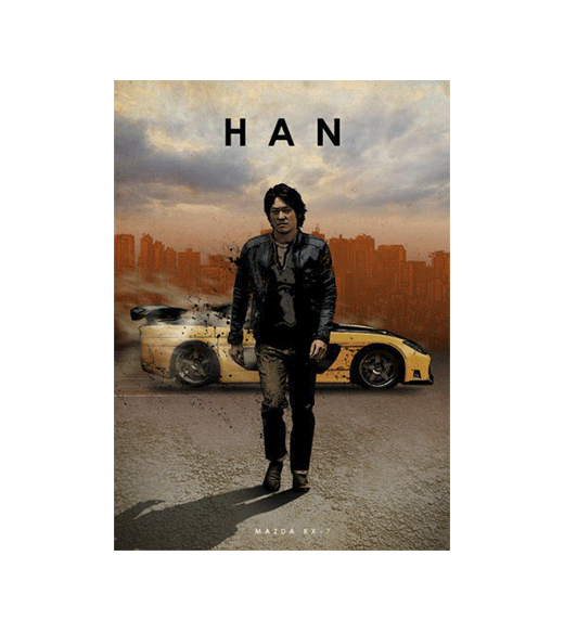 The Fast and the Furious - Han wandplaat