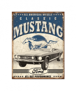Classic Ford Mustang - metalen bord