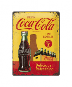 Coca Cola Delicious Refreshing 1930 - metalen bord