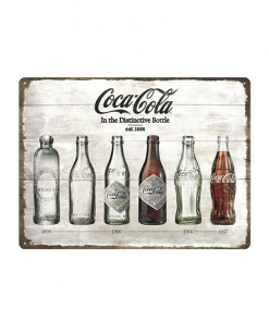 Coca Cola Evolution - metalen bord
