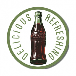 Coca Cola Refreshing - metalen bord