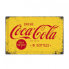 Coca Cola in bottles - metalen bord