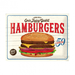 Epic Juicy Giant Hamburgers - metalen bord
