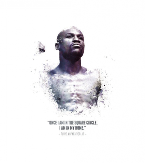 Floyd Mayweather - Quote wandplaat