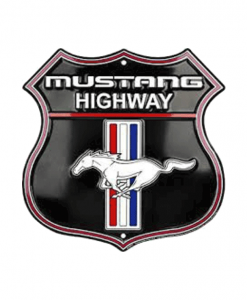 Ford Mustang 2.0 - metalen bord