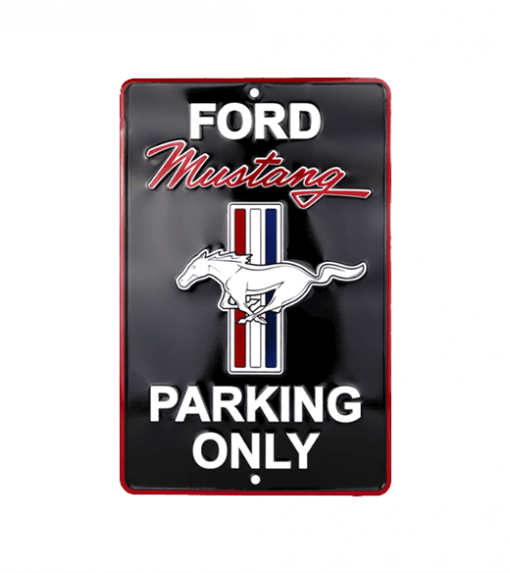 Ford Mustang parking only - metalen bord