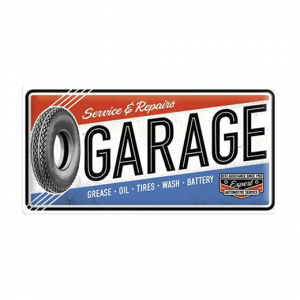 Garage service & repairs - metalen bord
