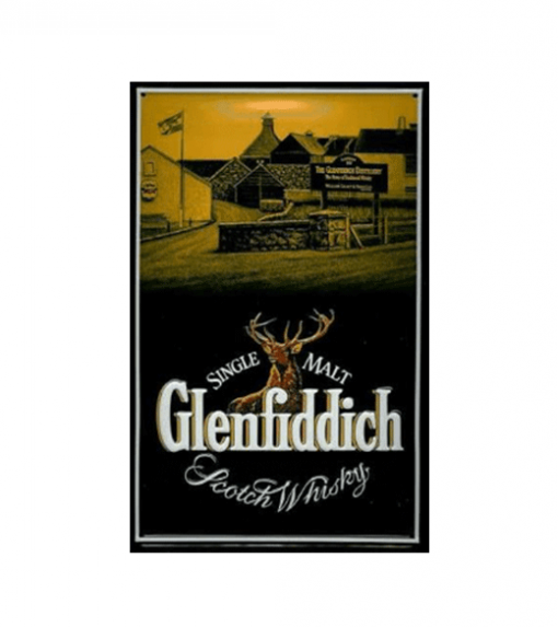 Glenfiddich Distillery - metalen bord
