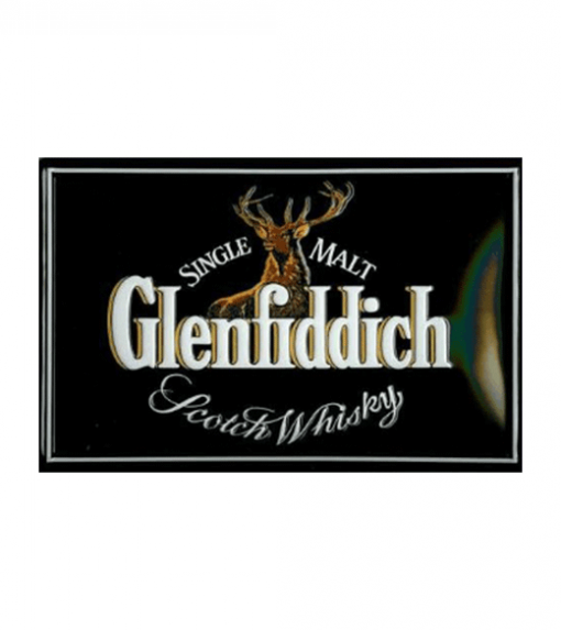Glenfiddich Single Malt - metalen bord