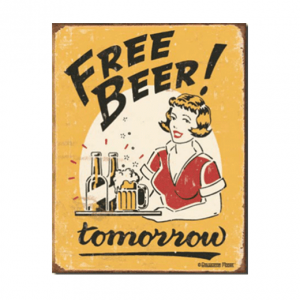 Mancave bord - Free Beer Tomorrow