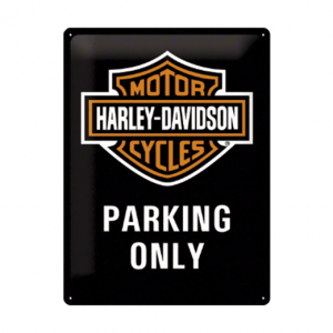 Mancave bord - Harley Davidson Parking Only