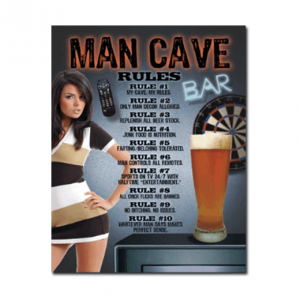 Mancave bord - Man Cave Rules 2.0