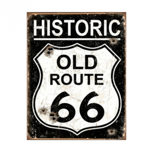 Mancave bord - Route 66 Sign
