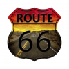 Mancave bord - Route 66 Sign snelweg