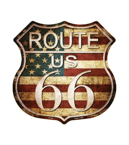 Mancave bord - Route 66 Sign vintage