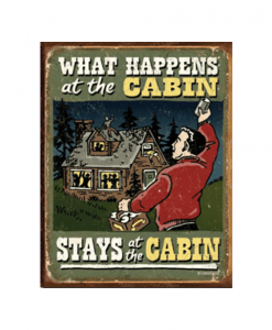 Mancave bord - What happens at the cabin