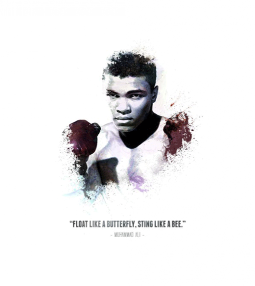 Muhammed Ali - Quote wandplaat