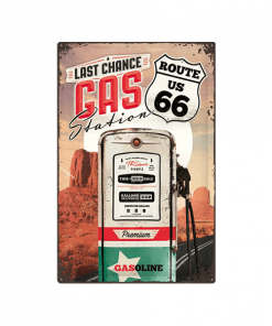 Route 66 gas - metalen bord