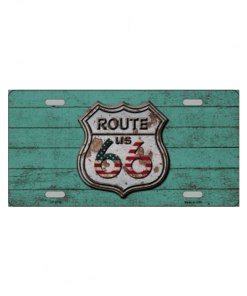 Route 66 houtlook - metalen bord