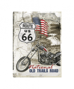 Route 66 old trail - metalen bord