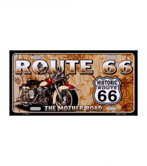 Route 66 the mother road 2.0 - metalen bord