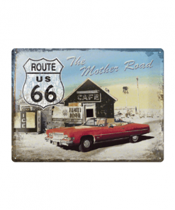 Route 66 the mother road - metalen bord