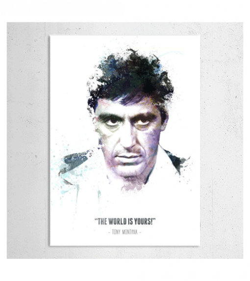 Scarface - Tony Montana wandplaat