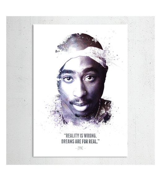 Tupac Amaru Shakur - Quote wandplaat