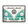 Volkswagen Adventure awaits - metalen bord