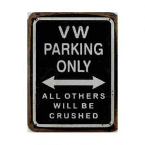 Volkswagen Parking - metalen bord